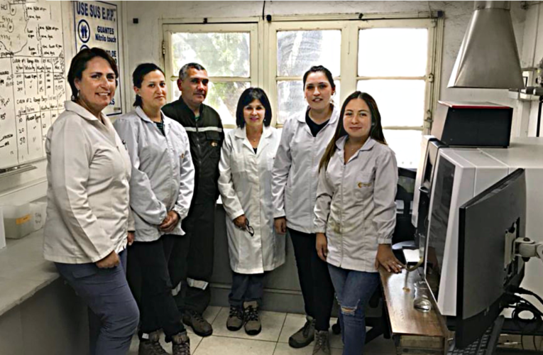 Control de Calidad de Cabildo se Capacita con Especialista del Laboratorio Químico Colón Codelco Teniente
