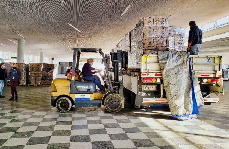 Faena Cabildo facilita camión para traslado de canastas de alimentos del Municipio