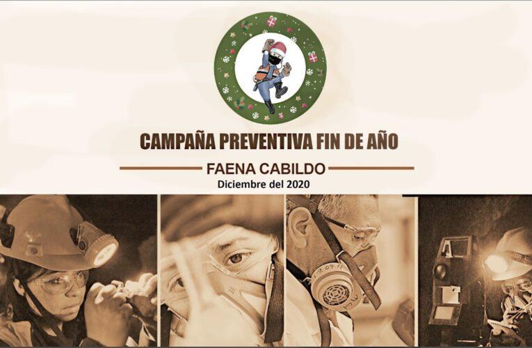Prevención de Riesgos de faena Cabildo entrega recomendaciones para terminar de buena manera este 2020
