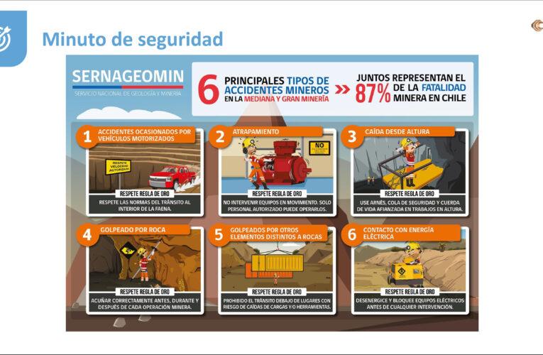 Sernageomin lanza campaña preventiva sobre accidentes fatales alcanzados por Tronaduras