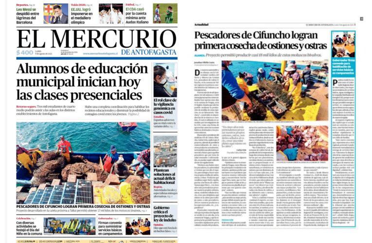 El Mercurio de Antofagasta publica amplio reportaje sobre Acuymin