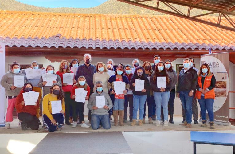 Faena Cabildo Participa de Término de Capacitación Realizada por Empresa Colaboradora Aura a JJ.VV. San Lorenzo